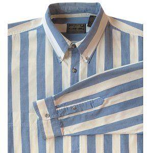 Eddie Bauer Men's Oxford Shirt, Blue Stripe